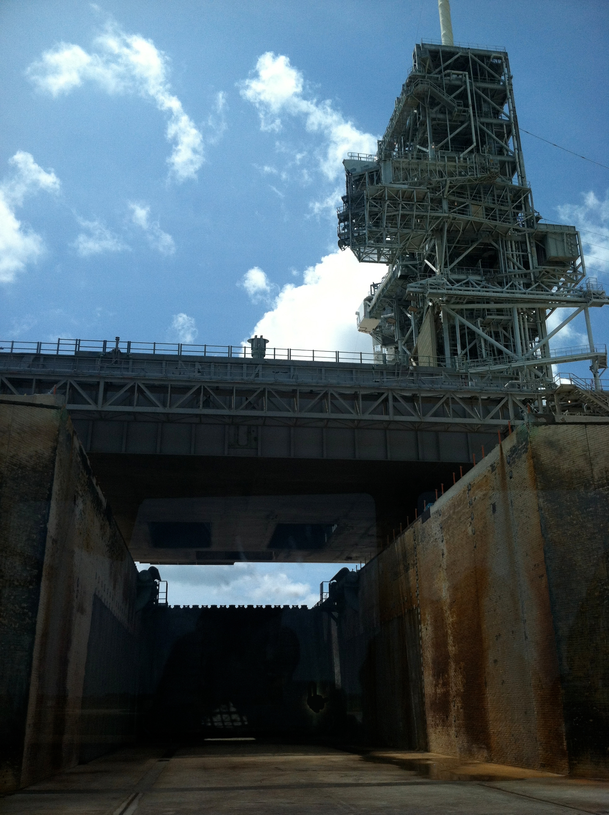 Cape Canaveral Launch Pad 39A Flame Trench