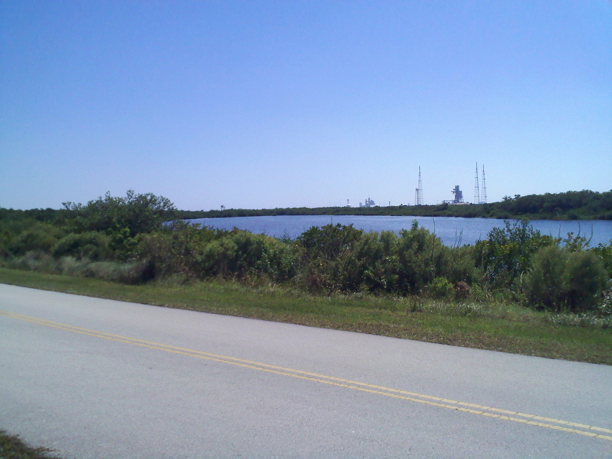 Cape Canaveral Running Path 2 w Launch Pad